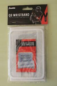 Store Plays Franklin QB Quarterback Wristband Size Youth Football White