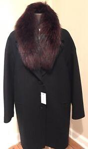 Nwt 750 jas zwart echte Canada S bontkraag in Maat gemaakt Sandova Womens wasbeer xpn66qZ