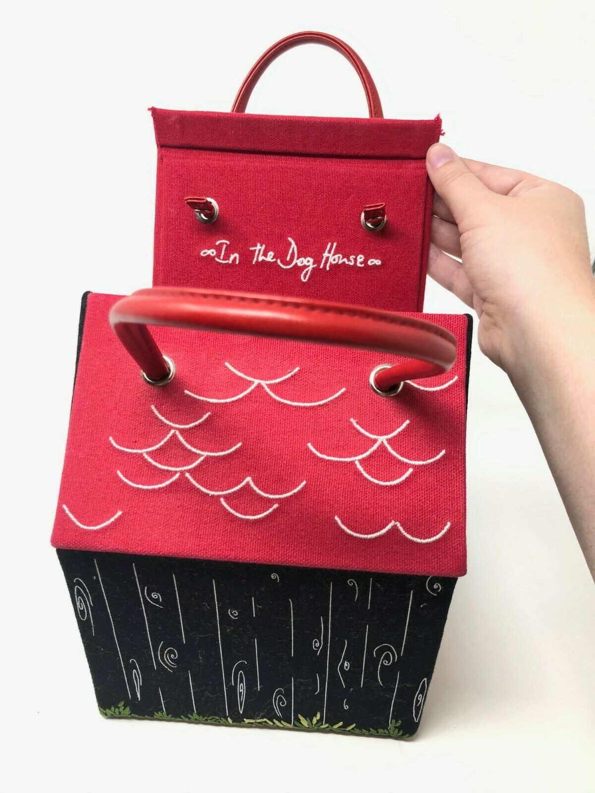 "RARE Lulu Guinness Bag Dog House Purse ""Beware of… - image 6"