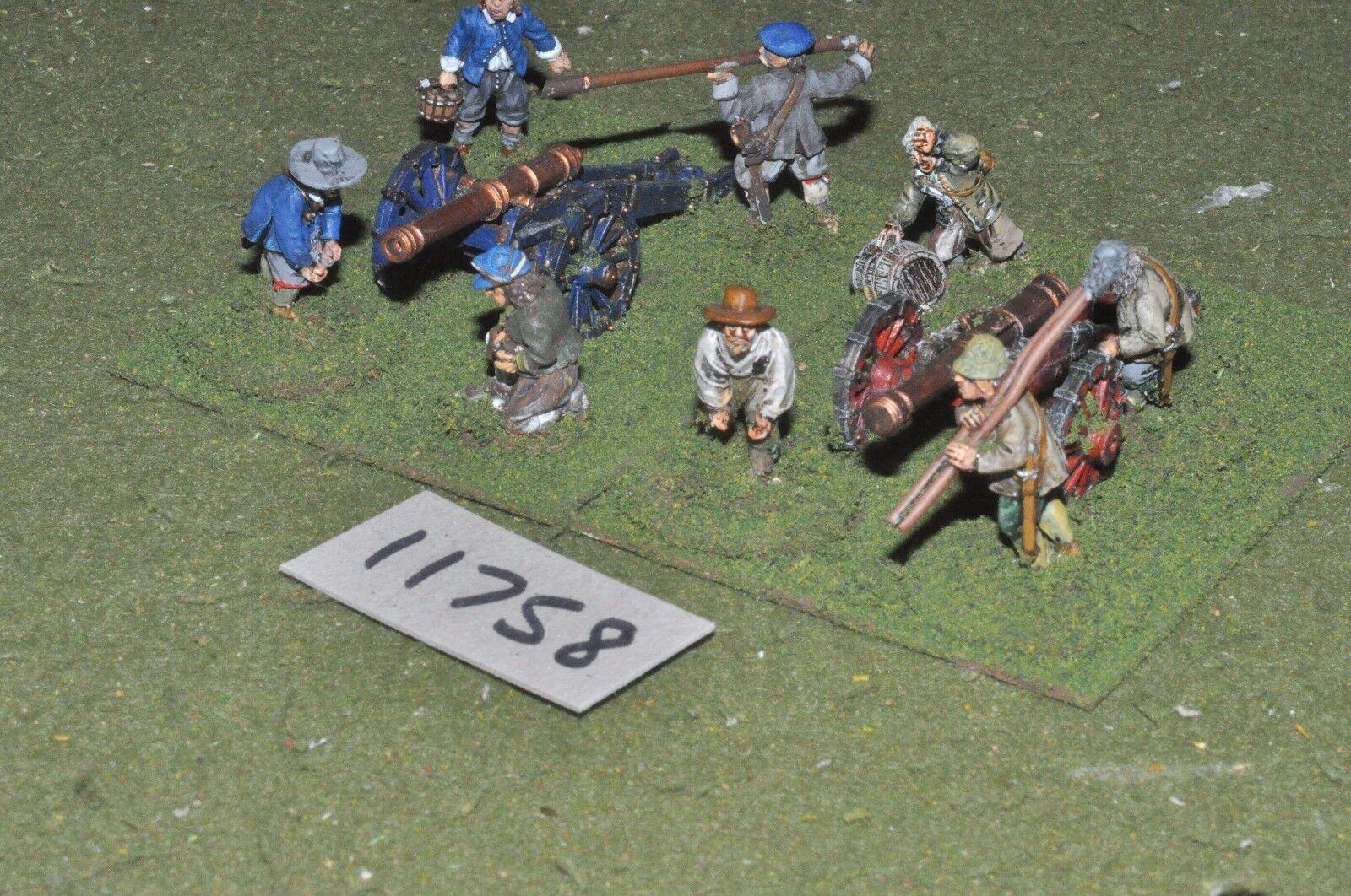 25mm ECW   english - civil war artillery 3 guns & crews - art (11758)