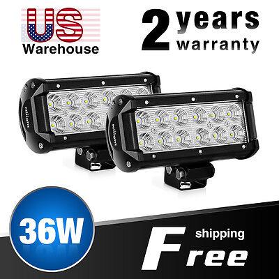Nilight LED Light Bar 8PCS 4Inch 18W LED Bar 1260lm Flood Led Off Road Driving Lights Led Fog Lights Jeep Lighting LED Work Light for Van Camper SUV ATV 2 Years Warranty