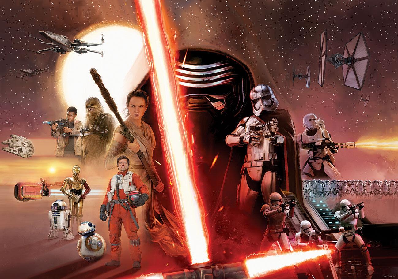 368x254cm Fototapete Wandtapete Star Wars das Erwachen der Macht Schlafzimmer