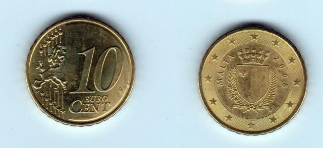 10 Cent 2008 Malta Extrem Seltene Original Münze 176 Ebay