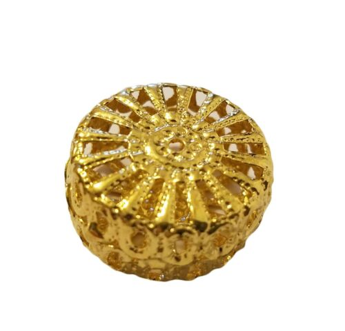 25 pcs Gold Metal Filigree Hollow Round Discs Craft Jewelry Findings 19mm 3//4/""