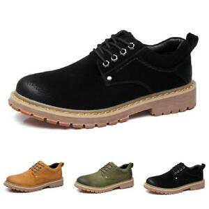 Mens Roamers M9559 Leather Lace Up 5 Eyelet Comfort Leisure Shoes Dark Brown Wax