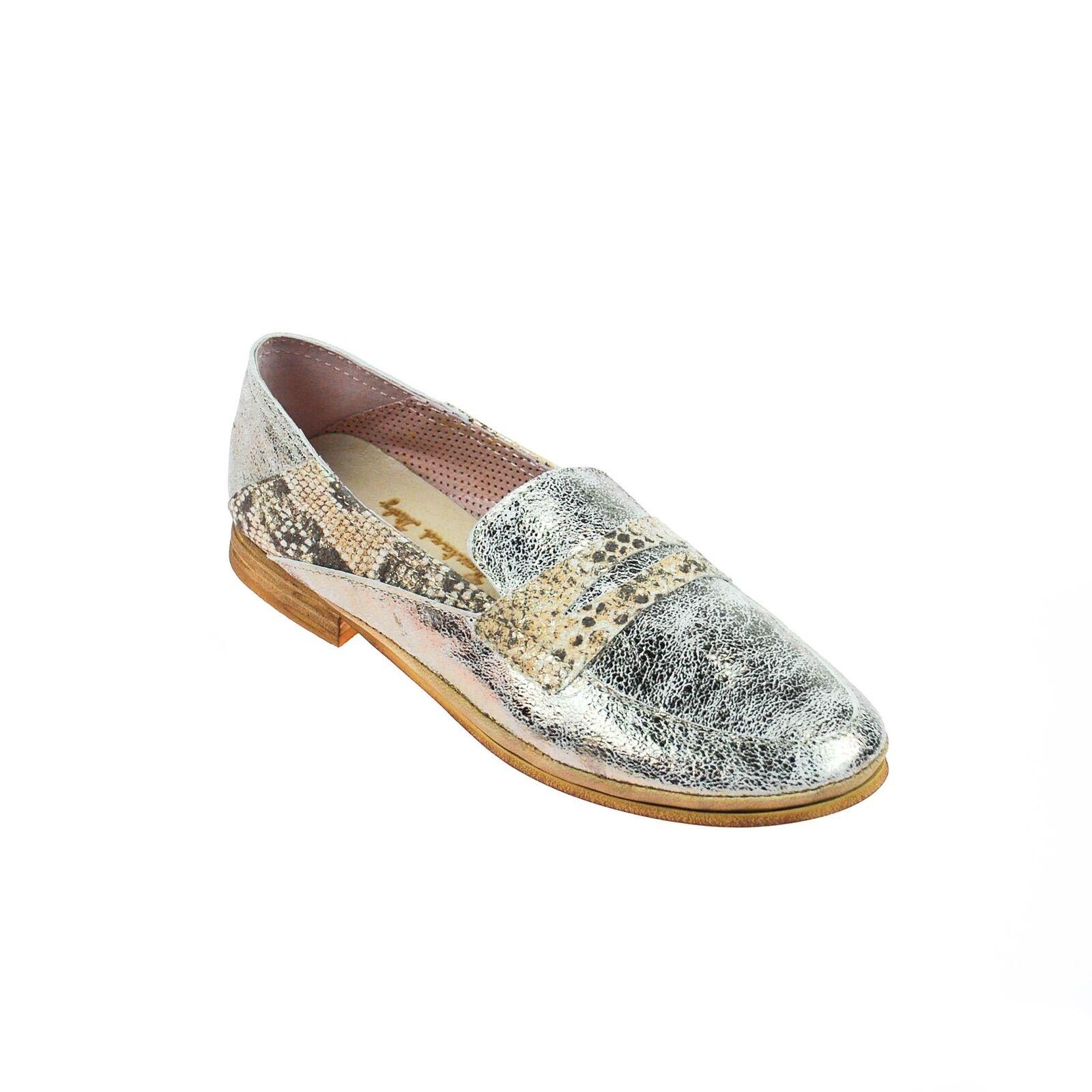 Zapatos casuales salvajes Descuento por tiempo limitado Charme Damen Halbschuh Slipper Leder Silber Gold Rose Mehrfarbig