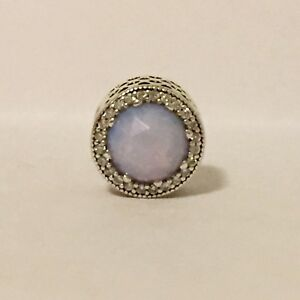 Pandora Charm Radiant Hearts Opalescent Pink Sterling Silver 925 791725NOP $80