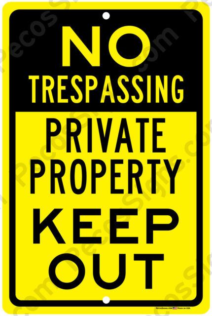 "NO SOLICITING NO HUNTING NO TRESPASSING Metal Sign 8/"" X 12/"" Aluminum"