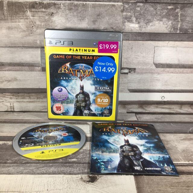 Platin Batman Arkham Asylum Spiel des Jahres Edition (ps3) sehr guter Zustand
