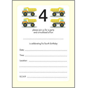 Image Is Loading 10 Childrens Birthday Party Invitations 4 Years Old