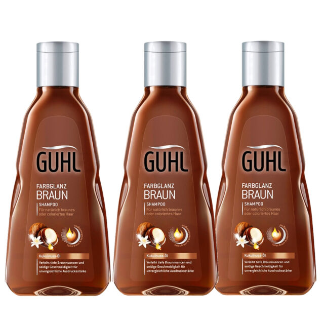 21 76 L 3 X 250ml Guhl Colour Shine Braun Shampoo Kukuinuss Oil