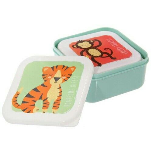 Zooniverse Puckator Three Stackable Lunch boxes