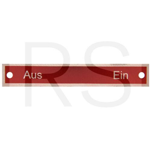 Schild Aus Ein am Porsche Diesel Traktor 1490003393004 EP