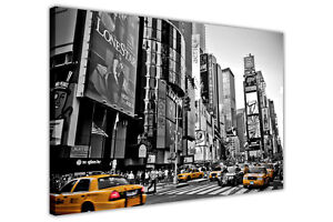 BLACK-AND-WHITE-PICTURES-CANVAS-WALL-ART-NEW-YORK-YELLOW-TAXI-PRINTS-DECORATION