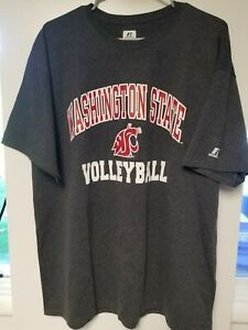 New-Washington-State-Cougars-Russell-Gray-Volleyball-T-Shirt-Large-L