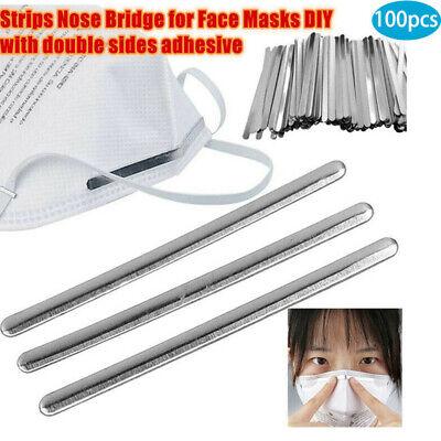 100//200Pcs 90mm Aluminum Strip for DIY Making  Nose Bridge Crafts With Adhesive