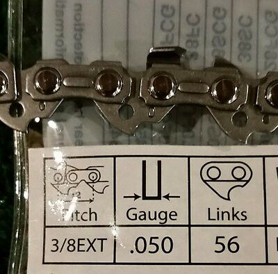 16 Chainsaw-Saw Chain Blade For Craftsman 3//8LP .050 Gauge-56DL Drive Link