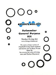 Autococker-General-Purpose-Paintball-Marker-O-ring-Oring-Kit-x-4-rebuilds-kits