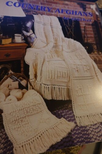 Leisure Arts Crochet Book 1160 Country Afghans