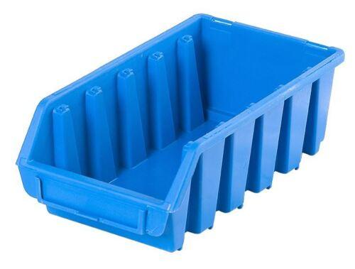 24 x l ergo boîte bleue pièces en plastique stockage empilage cueillette bacs 116x212x75
