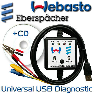 Webasto Eberspacher USB MCU Diagnostic Adapter Cable Interface Heaters WTT EDiTH