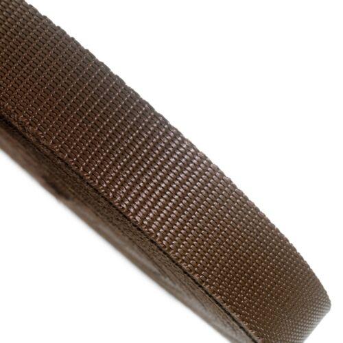 25mm Brown Webbing Rolls Polyproplene 440kg Breaking Strain Straps and Lashing