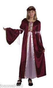 ragazze-Burgundy-medievale-rinascimento-Tudor-Princess-fiabe-COSTUME