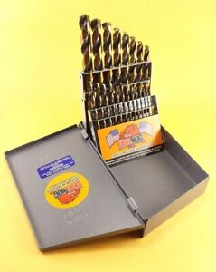 Drill-Hog-USA-21-Pc-Drill-Bit-Set-Metal-Hi-Molybdenum-M7-MOLY-Lifetime-Warranty