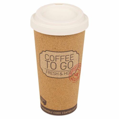 Cork isotherme chaud Tasse Café 500 ml Réutilisable Eco Friendly avec couvercle sur le GO Tea