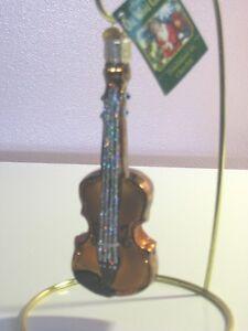 "Old World Christmas  ""Violin"" Glass Ornment"