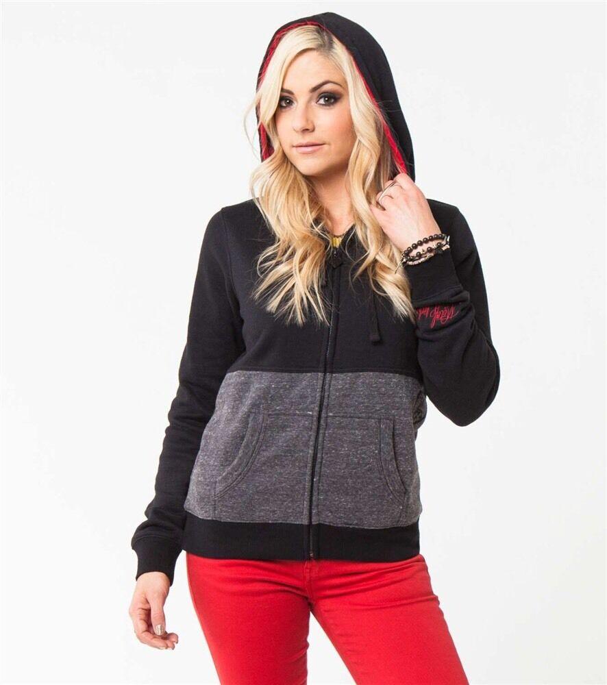 Metal Mulisha Ladies Addiction Zip Fleece Hoodie Size S
