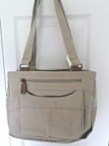 JACLYN-DOUBLE-HANDLE-DENIM-HOBO-HANDBAG-TAN-NWT-REDUCED-PRICE