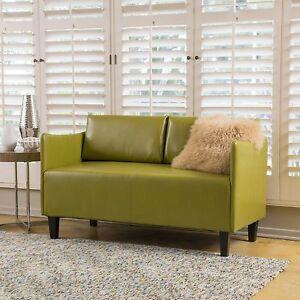 Nile Green Leather Loveseat 637162968994 Ebay