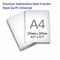 1,000 Sheets A4 Premium Quality Sublimation Paper, Heat Transfer Paper--10 Packs