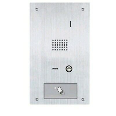 Aiphone Corporation IS-IPDVF-HID IP Addressable Card Access Video Door Station for IS Series IP Video Intercom Stainless Steel 7 x 12-3//8 x 1-7//8