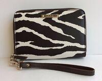 Stella & Dot Chelsea Tech Zebra Print Wallet Brand