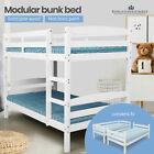 Kingston Single Bunk Pine Timber Kid's Bed - White