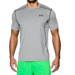 05d99098 Under Armour Mens Gray Heather Fitted UA Raid Short Sleeve Tee Shirt ...