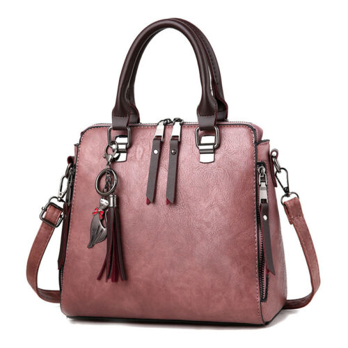 Yogodlns Vintage Women Tassel Handbags PU Leather Female Shoulder Bag Casual