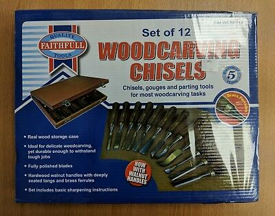Faithfull FAIWCSET12 Woodcarving Set in of 12 in Case