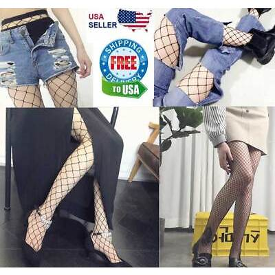Fishnet Stockings Pantyhose Black Net Pattern Sock Fashion Women Ladies Big Mesh