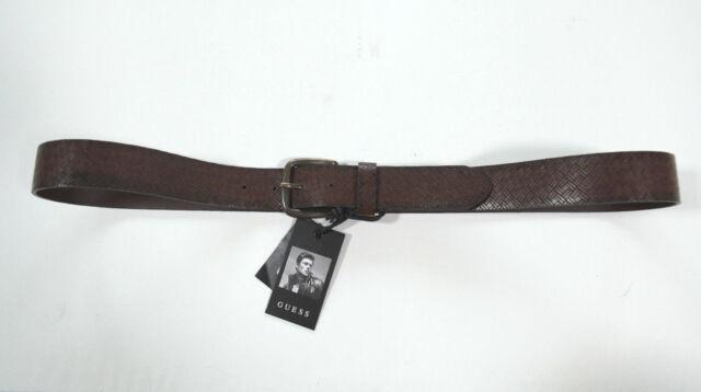 NUOVO GUESS di tendenza pelle Uomo Cintura 102-112 cm tg. L 105 (49) 7-17