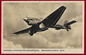 German WW 2 Third Reich postcard LUFTWAFFE Junkers Ju 87 Stuka - dive bomber