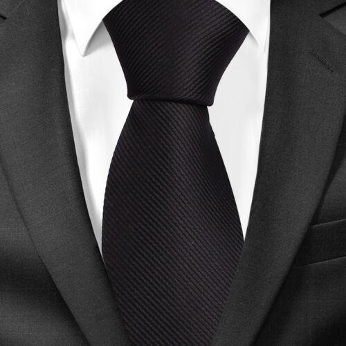 BomGuard Herren Krawatte Rips 6cm oder 8cm breit  Schlips nichtglänzend