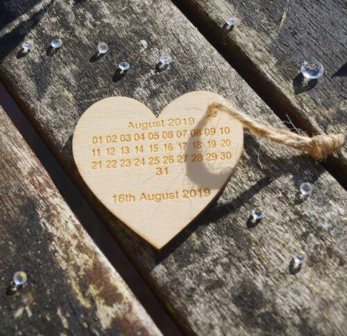 personnalisé en bois invitation en bois enregistrer les dates Save the Date aimants