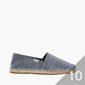 NEW-Soludos-for-J-Crew-Men-039-s-Espadrilles-in-Chambray-10M-C3341
