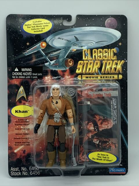 Playmates Classic Star Trek Movie Series Khan Noonien Singh Action Figure New