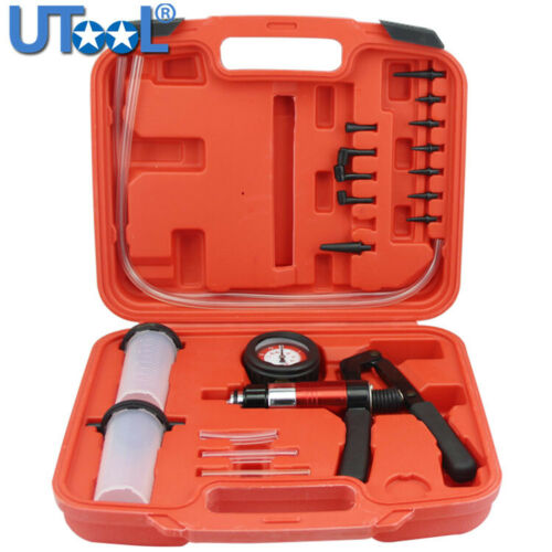 Hand Held Vacuum Pump/& Brake Bleeder Kit,Vacuum Tester Set,Car Tools Set