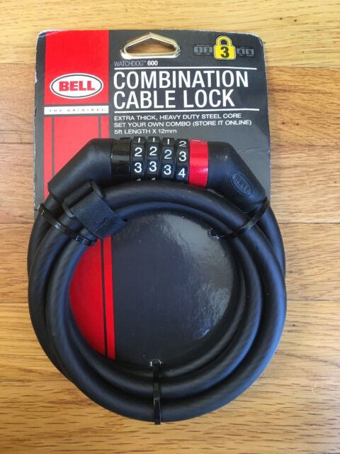 Bell Watchdog 600 HD Steel Combo Cable 12mm Black//gray for sale online