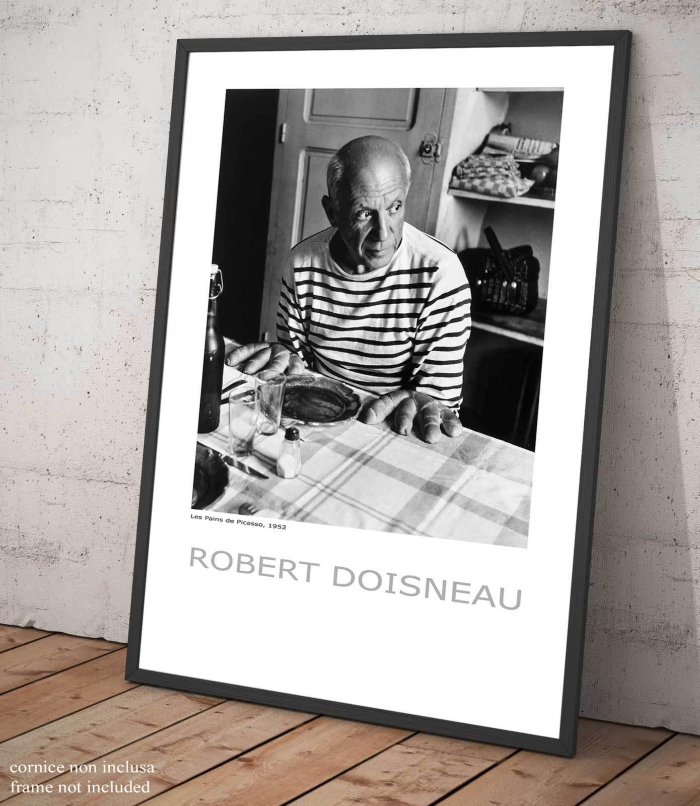 Pablo Picasso Robert Doisneau Poster Fotografia Quadro Stampa su Pannello Mdf
